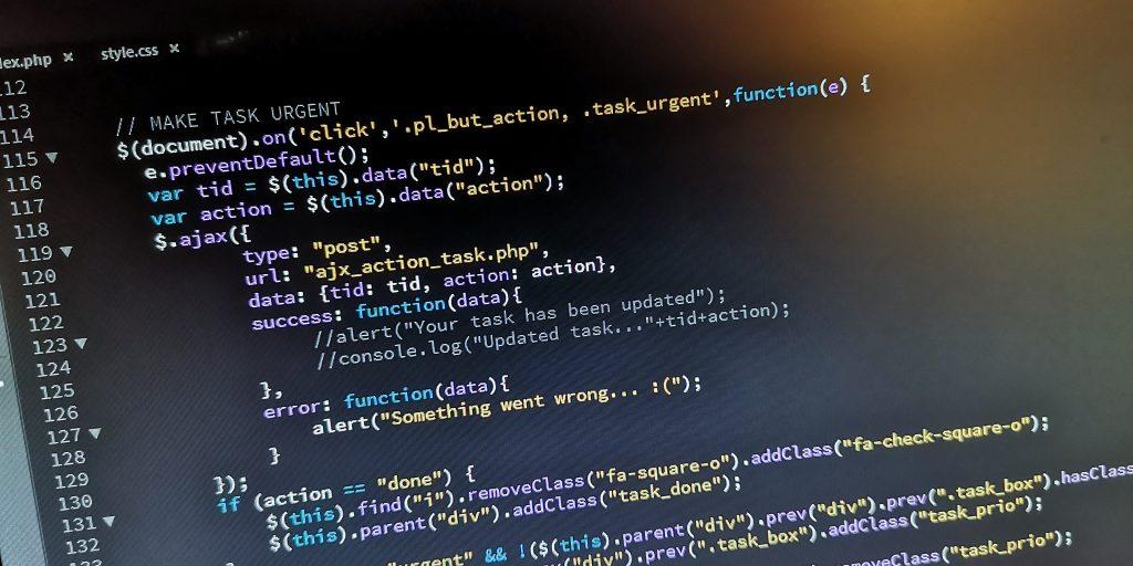 Code einer Webseite